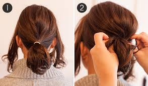 ponytail haircut technique pony up how to make short hair look full in a ponytail more com