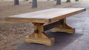 trestle dining table with bench rustic trestle dining table furniture ege sushi com trestle style