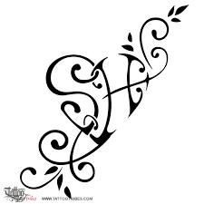tattoo of s h heart union love tattoo custom tattoo designs on