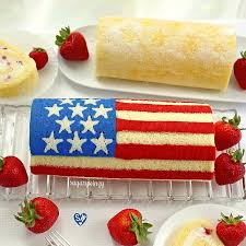 how to make cake how to make a flag roll cake sugarywinzy