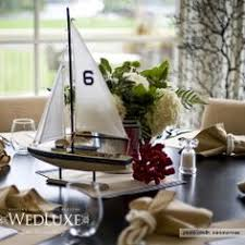 Sailboat Centerpieces Nautical Theme - driftwood sailboats used for table centerpieces at nautical