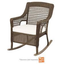Rocking Patio Chair Hampton Bay Spring Haven Grey Wicker Outdoor Patio Rocking Chair
