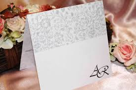 wedding invitation with card
