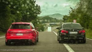 audi rs6 vs audi rs6 v s bmw m5 accelerations dragrace nurburgring