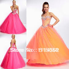 prom dresses pink puffy