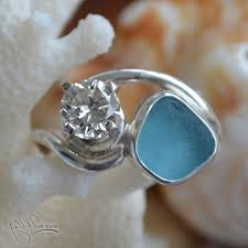 sea glass engagement rings made by meg sea glass engagement rings caymancode