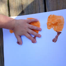 pumpkin patch handprint craft