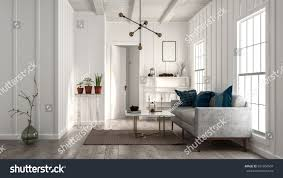 minimalist modern design living room minimalist design white walls stock illustration