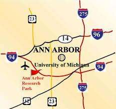 Ann Arbor Michigan Map property location