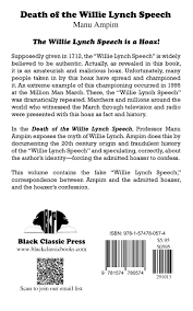 death of the willie lynch speech manu ampim 9781574780574