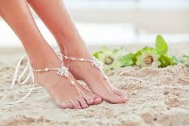 pearl barefoot sandal foot jewelry beach wedding sandles