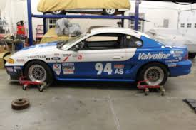 road race mustang for sale ford mustang sedan 1994 blue and white for sale 1falp42t7rf166202