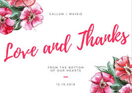 watercolor flowers wedding thank you card templates by canva