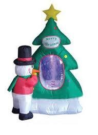 Blow Up Christmas Decorations Australia by 4 U0027 Santa Reindeer Skating Rotating Light Up Christmas Inflatable