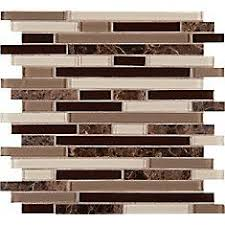 Home Depot Canada Backsplash by Faber 12 In X 14 In Blend Mosaic Polished Brown Natural Stone Wall