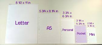 Resume Paper Size How To Choose Inserts Refills For A Filofax