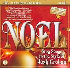 christmas karaoke noel songs in the style of josh groban
