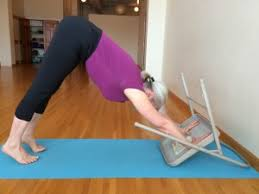 Exercise Upside Down Chair Lift Your Fingers To Work Your Upper Arms In Downward Dog Pose