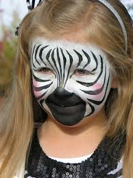 zebra zebra face paint the painted otter face art