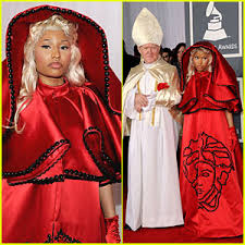 Pope Halloween Costume Nicki Minaj U2013 Grammys Pope 2012 Grammy Awards Nicki