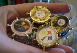 pittsburgh steelers ornament set of 4 tiny drums ebay