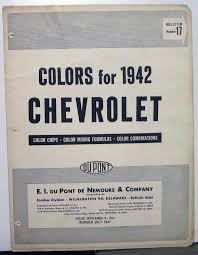 chevrolet dupont color paint chips automotive finishes original codes