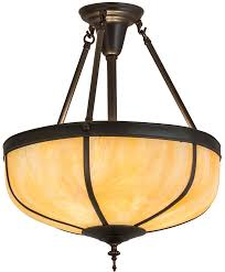 arts and crafts pendant lighting meyda tiffany 175323 arts crafts dome reverse craftsman brown