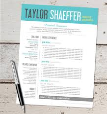 Creative Resume Templates Microsoft Word Instant Download Resume Design Template Microsoft Word
