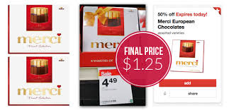 Where To Buy Merci Chocolates Merci Chocolates Just 1 25 At Target Today Only The Krazy