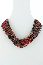 orange bead necklace images Designer beaded necklace the african collection jpg