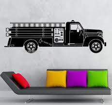 fire truck vinyl wall decals wall murals you ll love online get fire wall decals aliexpress com alibaba group fire truck