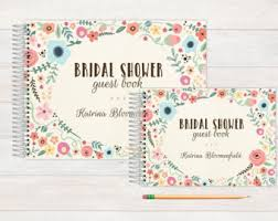 bridal shower guestbook bridal shower book etsy