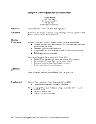 Employment History Resume Chronological Resume Format 9 Resume Example Reverse Chronological