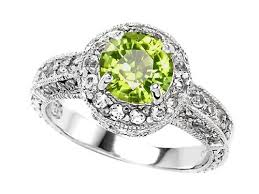 peridot engagement ring original k tm genuine 7mm peridot engagement ring in