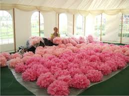tissue paper decorations tissue paper pom poms hot pink wedding decoration