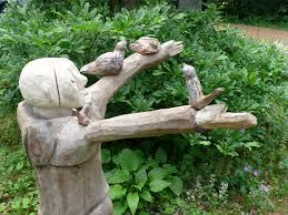 wood garden sculpture unitarian universalist church in springfield
