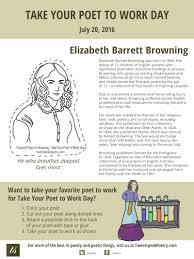 take your poet to work elizabeth barrett browning