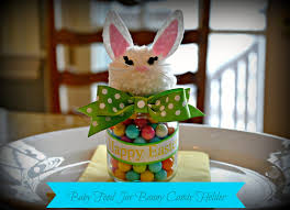 easter bunny candy serendipity refined upcycled baby food jar easter bunny candy