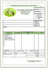 Lawn Maintenance Invoice Template by Landscaping Invoice Template 7 Landscaping Invoice Templates