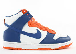 white blue ribbon dunk high white blue ribbon orange blaze