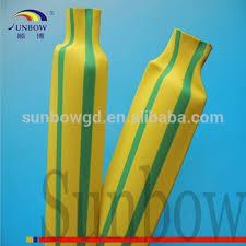 wire marking yellow green striped heat shrink 2 1 3 1 buy