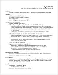 Example Of Resume Objective Resume by Example Resumes U2022 Engineering Career Services U2022 Iowa State University