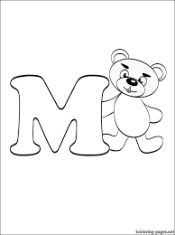 Letter M Coloring Page Coloring Pages M Coloring Pages