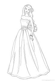 barbie princess printable coloring pages funycoloring