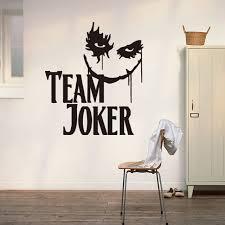stickers de pour chambre nouvelle équipe joker sticker mural pour chambre de décoration de