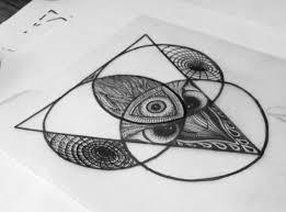 tattoo geometric outline outline triangles geometric tattoo design