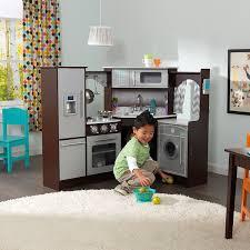 amazon com kidkraft ultimate corner play kitchen with lights
