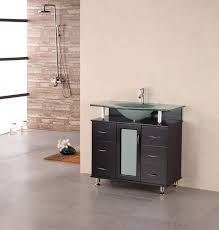 Inch Modern Single Sink Vanity With Frosted Glass Countertop - Elements 36 inch granite top single sink bathroom vanity