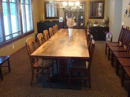 dining room table for 12 12 foot reclaimed wood trestle table red oak by antique woodworks