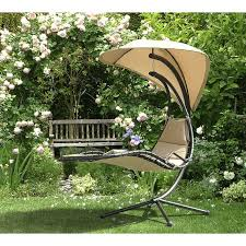 Corona Adirondack Chair Sunjoy Corona Polyester Hanging Chaise Lounger With Stand